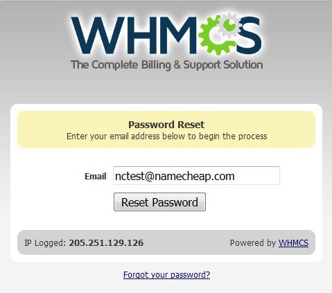 WHMCS重设管理员密码