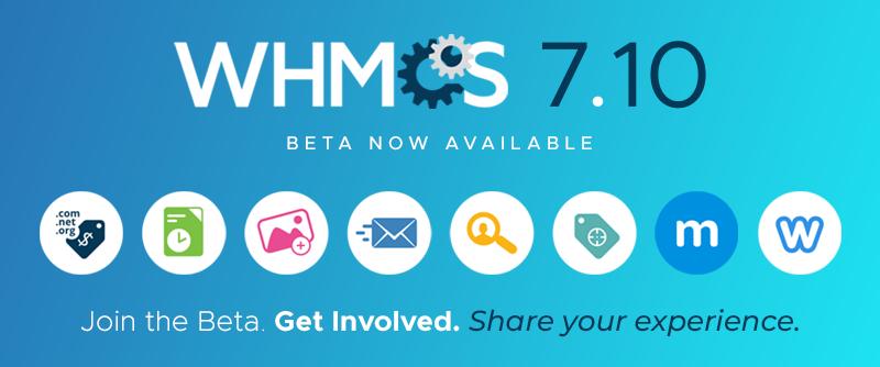WHMCS 7.10 Beta版