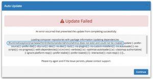 WHMCS自动更新失败